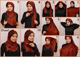 cara memakai jilbab yang benar