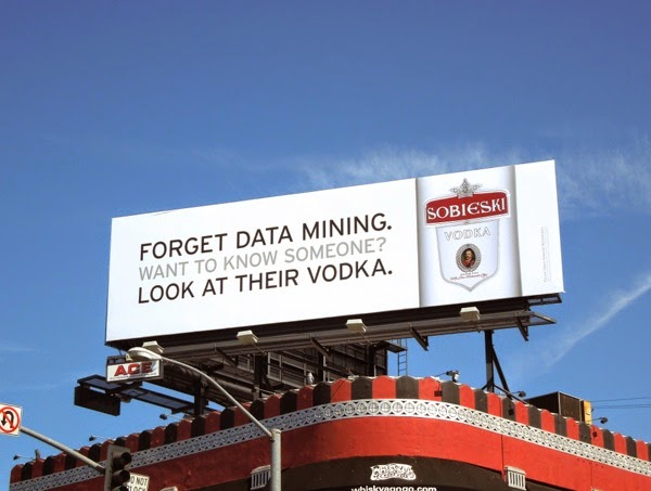 Forget Data Mining Sobieski vodka billboard