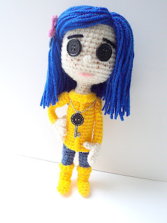 gift present for a little girl: revised crochet coraline doll pattern