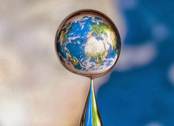 Criando a Terra com uma gota de água