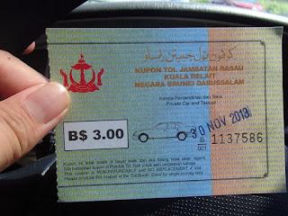 Kupon Tol Rasau Kuala Belait Brunei
