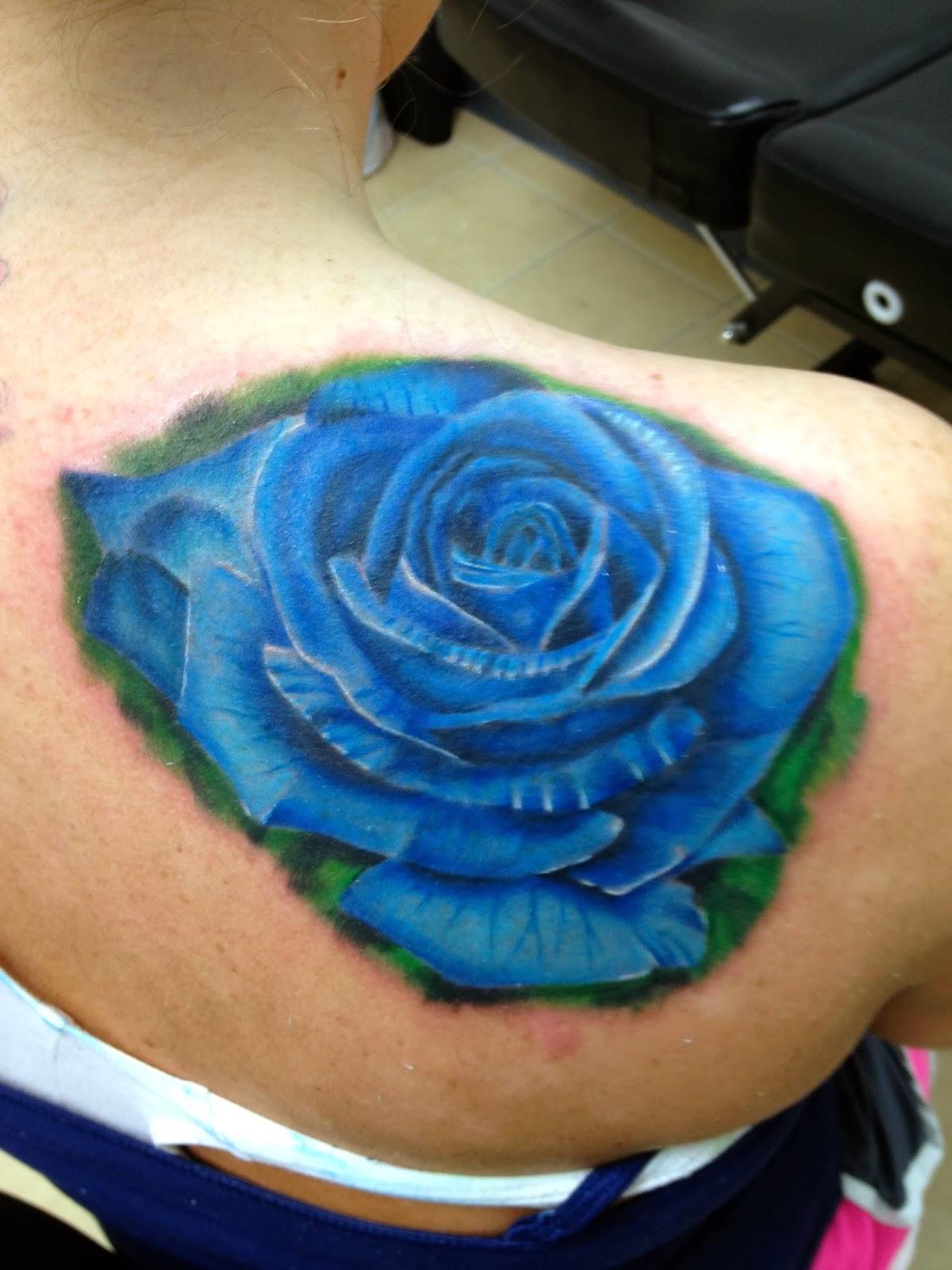 daniel nguyen tattoo realistic blue rose. Black Bedroom Furniture Sets. Home Design Ideas