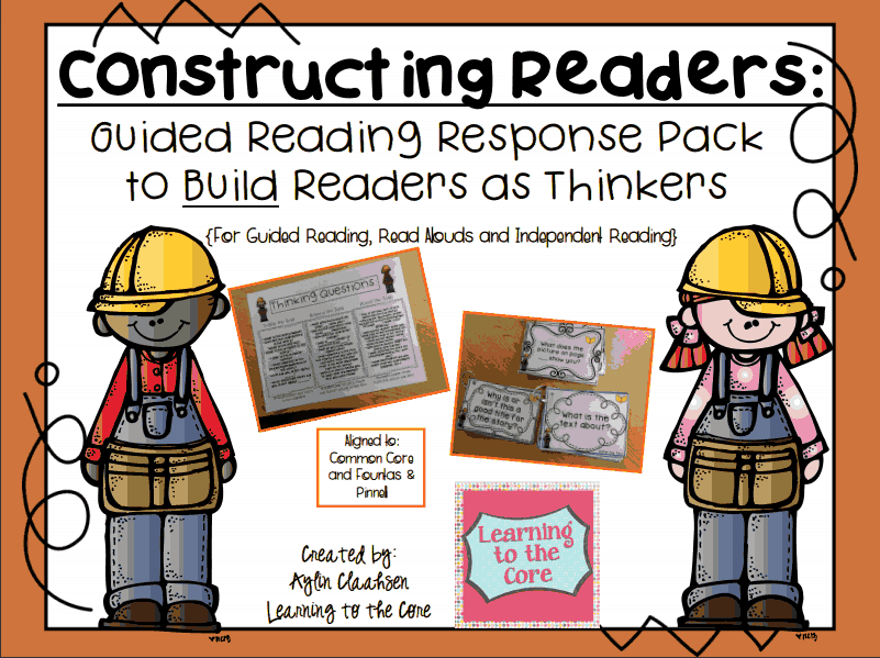 http://www.teacherspayteachers.com/Product/Constructing-Readers-Guided-Reading-Response-Pack-to-Build-Readers-as-Thinkers-1079512