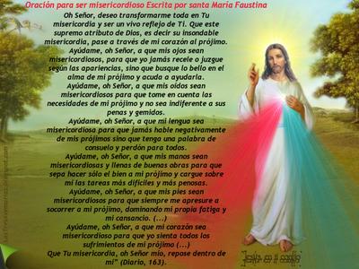 oracion para ser misericordioso