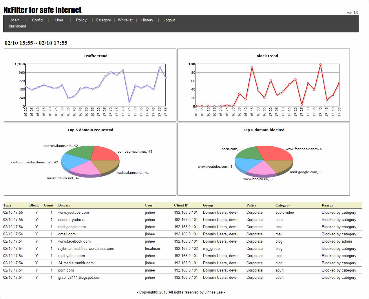 برنامج مجاني لفلترة وحجب المواقع ورصد والتحكم الكامل في شبكة الانترنت NxFilter 2.2.7