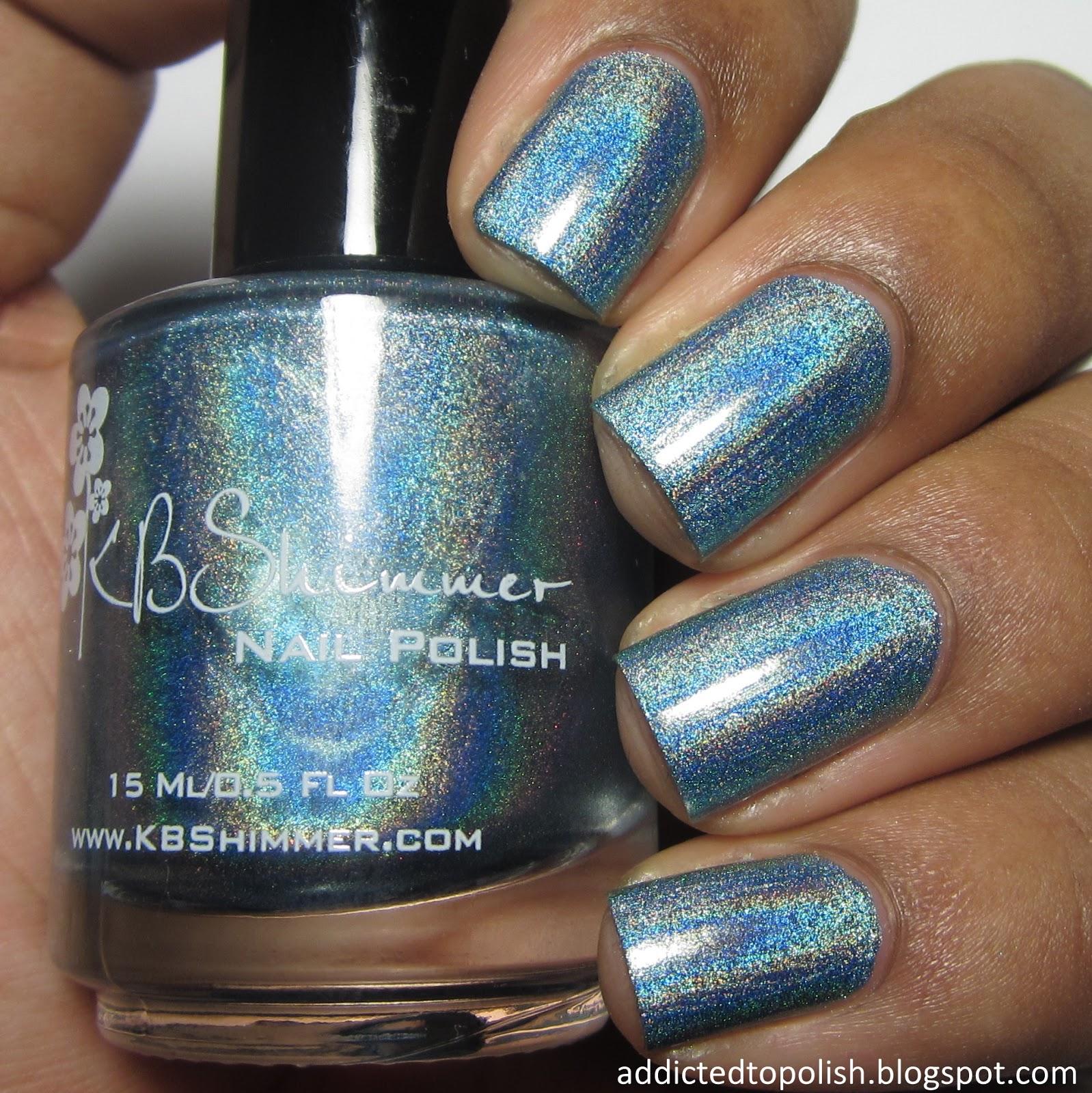 KBShimmer Blue-d Lines Spring 2015 blue holo
