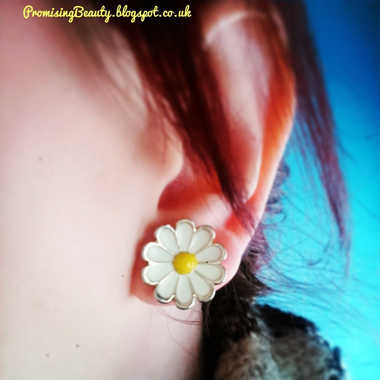 Springtime accessories, cute daisy earrings. studs.
