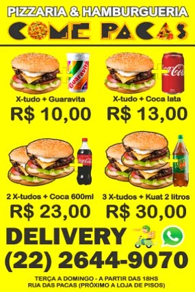 Come Pacas Pizzaria e Hamburgueria