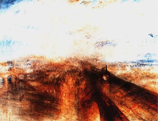 Уильям Тернер. Дождь, пар и скорость. Западная железная дорога. 1844.