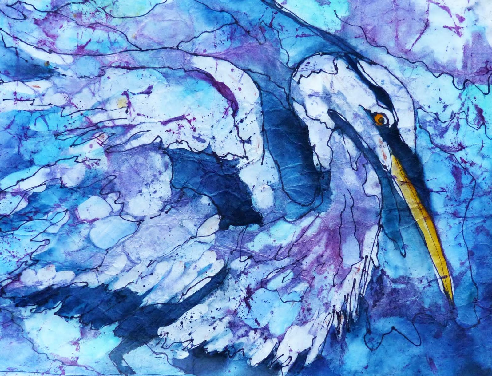 Dee Doyle Art and Soul: Another Crack at Watercolor Batik