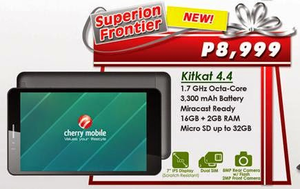 Cherry Mobile Superion Frontier, 7-inch Octa Core Android KitKat Tablet for Php8,999
