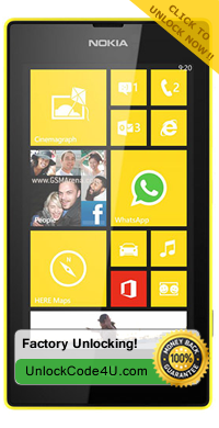 Factory Unlock Code for Nokia Lumia 520