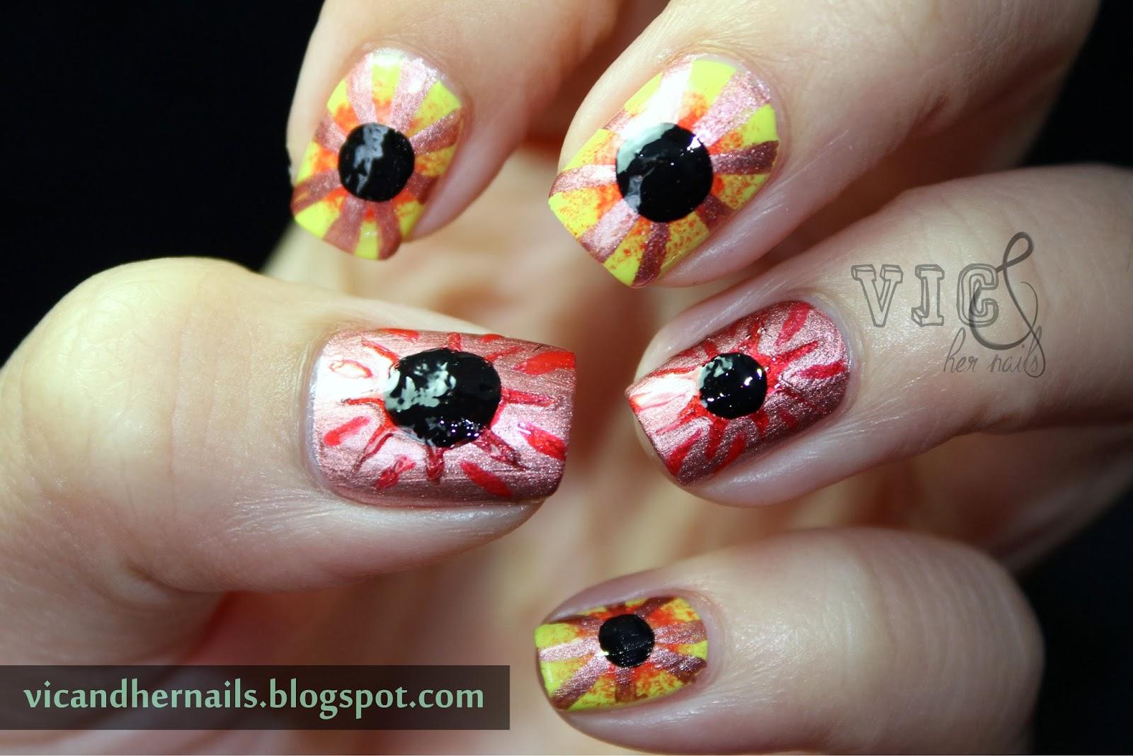 Solar Eclipse Manicure | Splendid Wedding Company