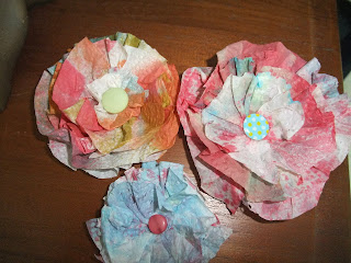 Simply simple paper towel flowers i didnt know paper towels could be so precious i took them home and experimented with them to make more flowers and smaller ones and tada mightylinksfo