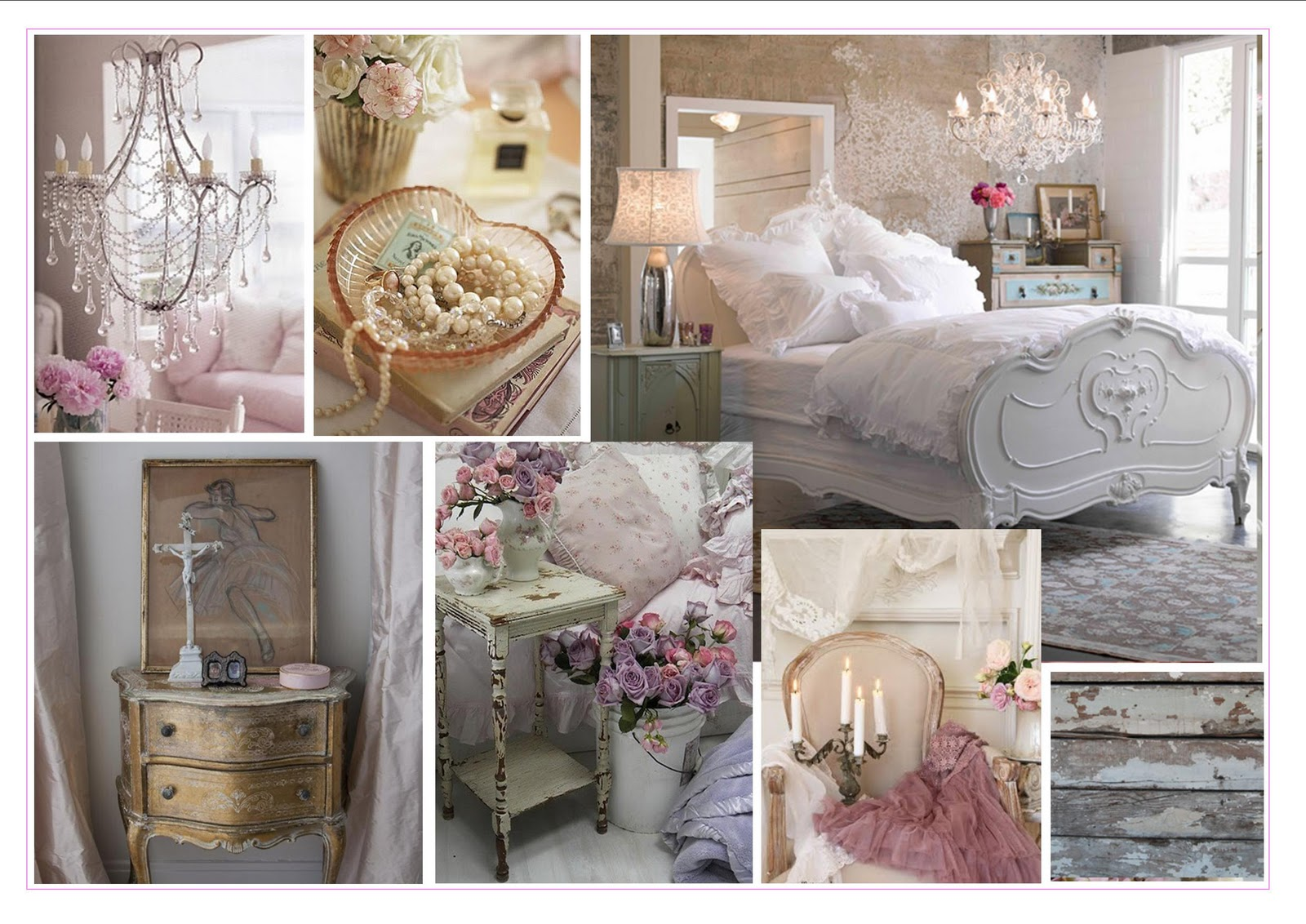 Moodboards Monday - Shabby Chic Bedroom - The Home Interiors Partner
