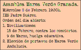Próxima Asamblea: Miércoles 8 de febrero. 19:30h. IES Padre Suárez