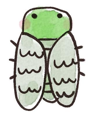 ミンミンゼミのイラスト(虫)
