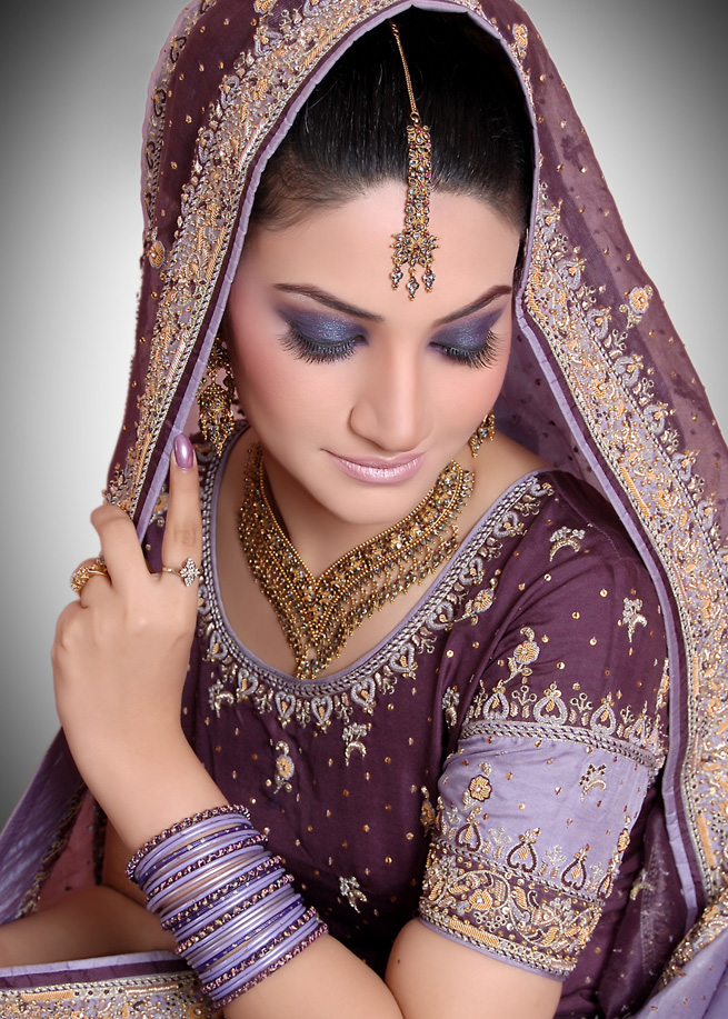 ... glitter shades here are some photos of bridal indian makeup for you