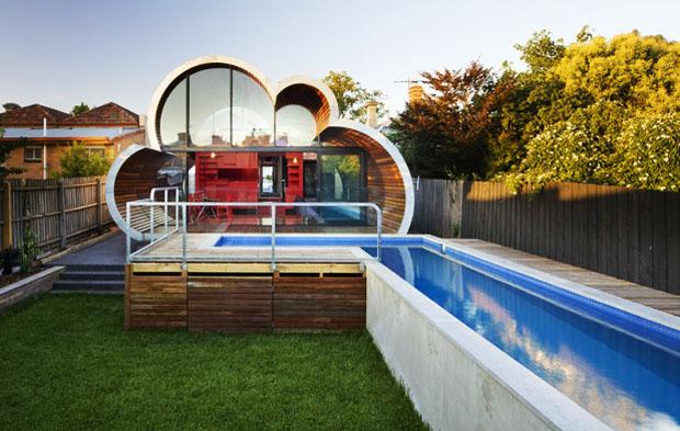 البيت الغيمة في ملبورن، تصميم مختلف من قبل المهندس ...