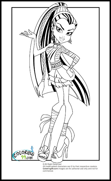 Monster High Baby Operetta Coloring Pages