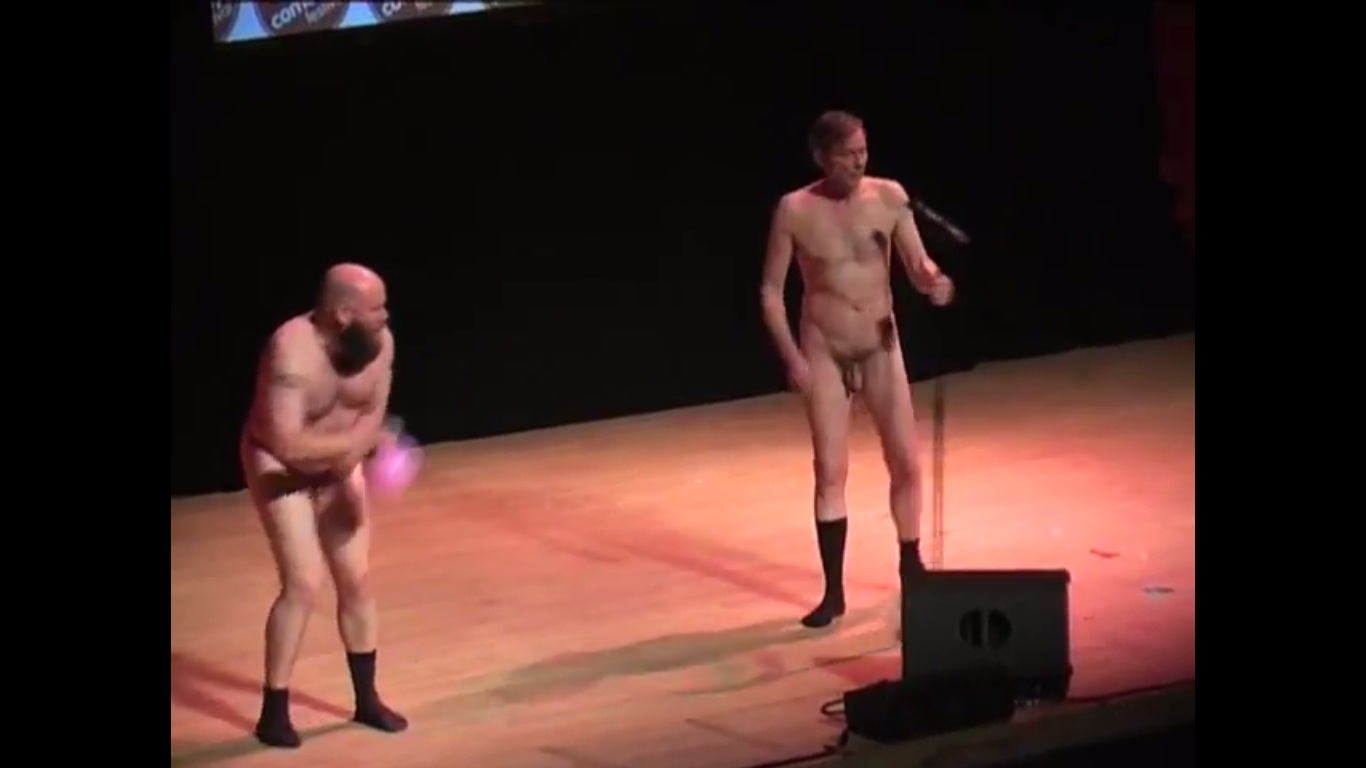 Hot naked on stage collection