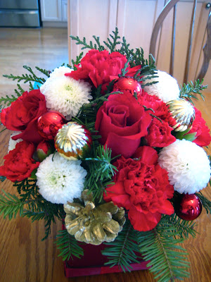 diy, Christmas flower arrangement
