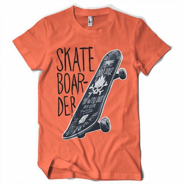 skateboarder t shirt design