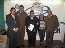 Con amigos en el salon de la Radio
