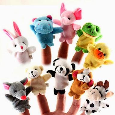 Peluches Dedo Marionetas Animales