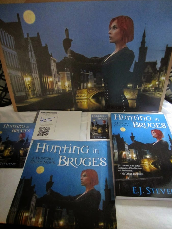 Hunting in Bruges Urban Fantasy New Release Giveaway Prize Pack