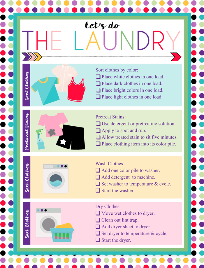 I Should Be Mopping The Floor Free Printable Laundry Chart