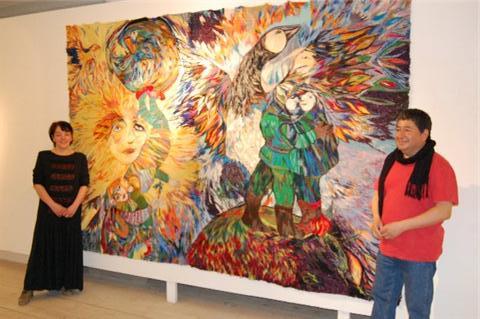 Marja i Myrom och Konstnär Ricardo Donoso