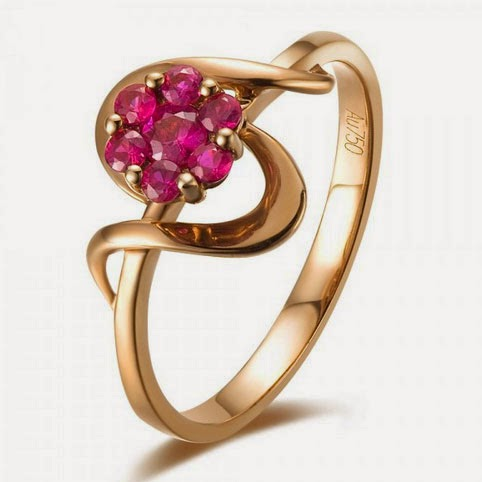 Womens Rose Gold Wedding Rings Pink Diamond Design pictures hd