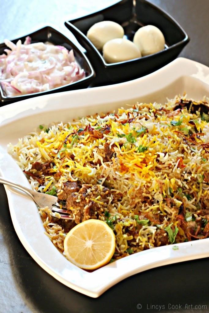 Hyderabadi Kachi Gosht ki Biryani