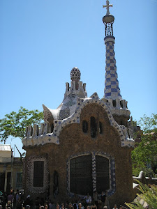 Construção no Parque Güell