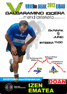 Galdaramio 15km / 1000md+ / ekainak 9