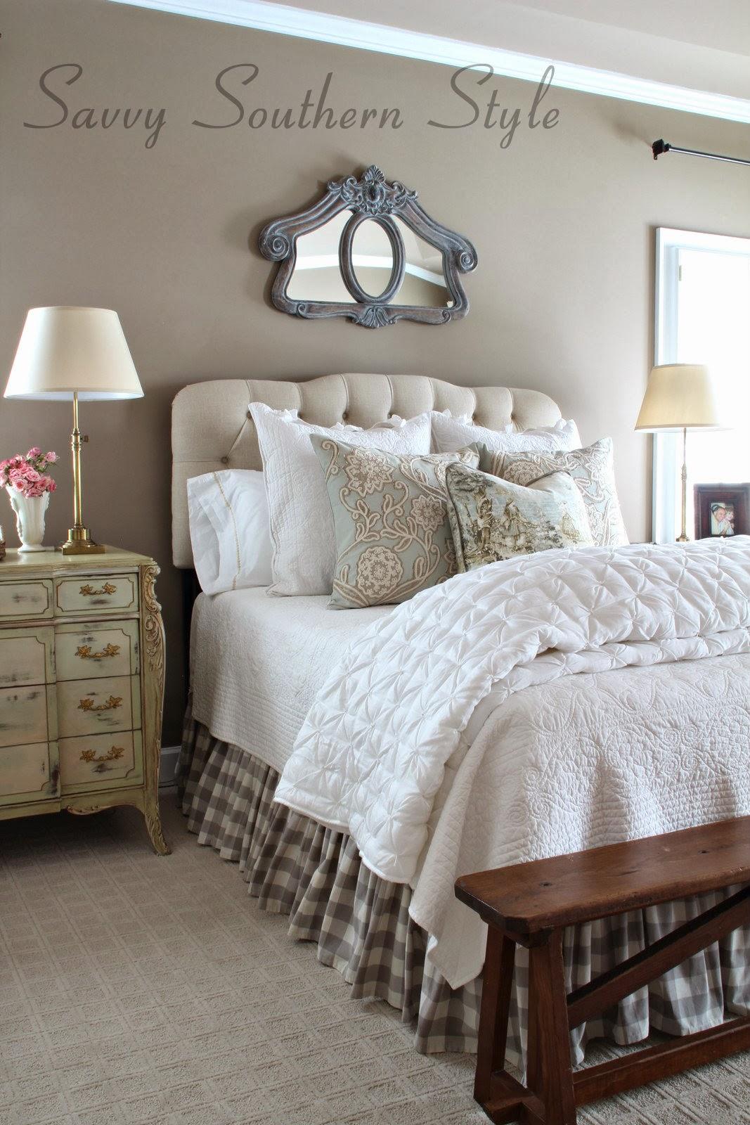 Savvy southern style answering questions about my bed for Farmhouse style bed