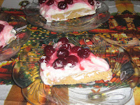 Homemade cherry cheesecake