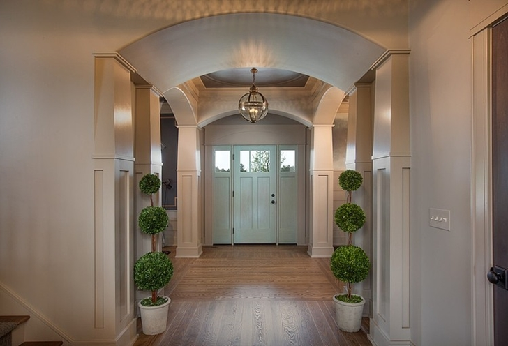 Entrance hallway in Craftsman style home in Dublin, Ohio