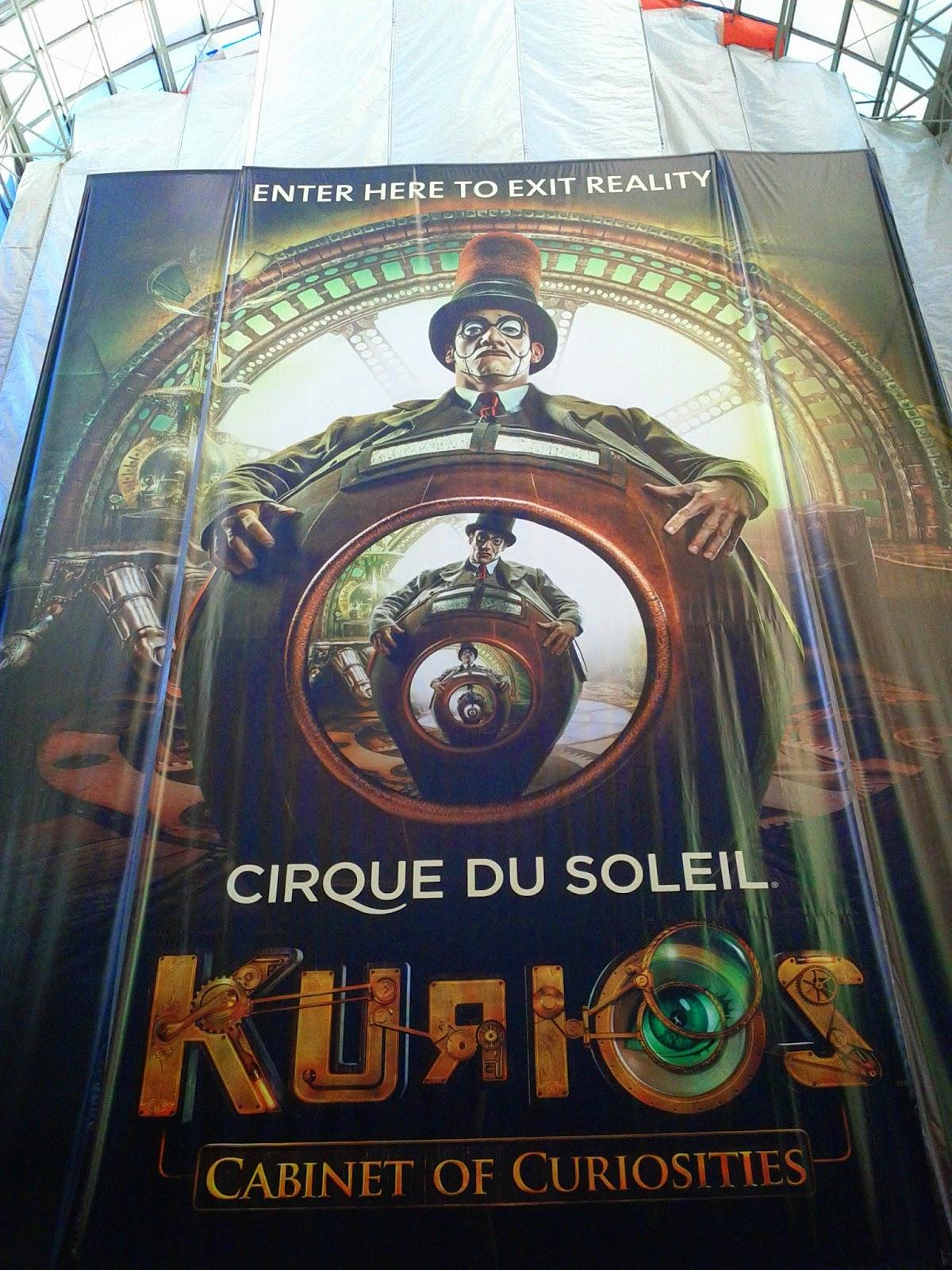 Circue Du Soleil Kurios Cabinet of Curiosities poster