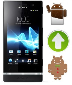tutorial manual update xperia u to ics