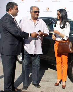 Actress Sridevi gifts a Porsche to husband Boney Kapoor