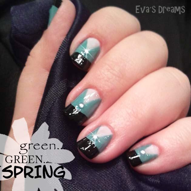 Nail art design - Nail art: green... green... SPRING