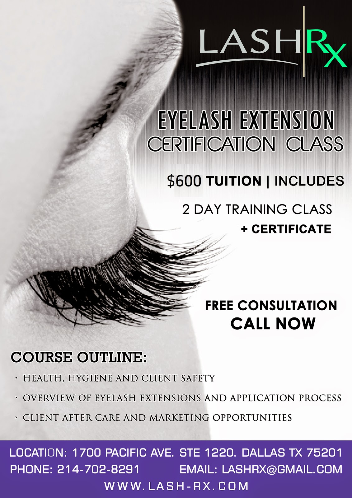 Lash Rx: Eyelash Extensions Certification Training Classes in Dallas ...