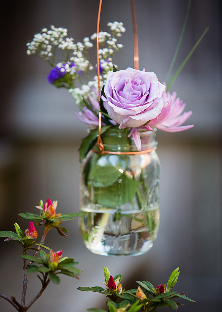 Mason jar wedding decoration - Washington, DC Wedding Photographer
