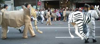 Comparsa de Entroido no desfile de Vigo 2012