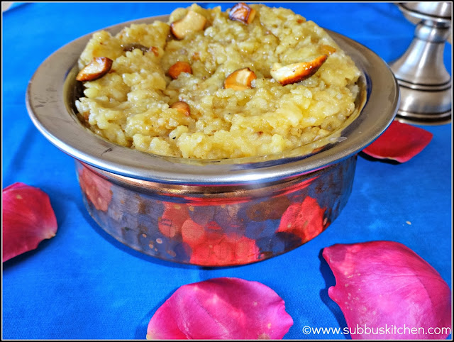 Sweet Rice Pongal / Sakkarai Pongal