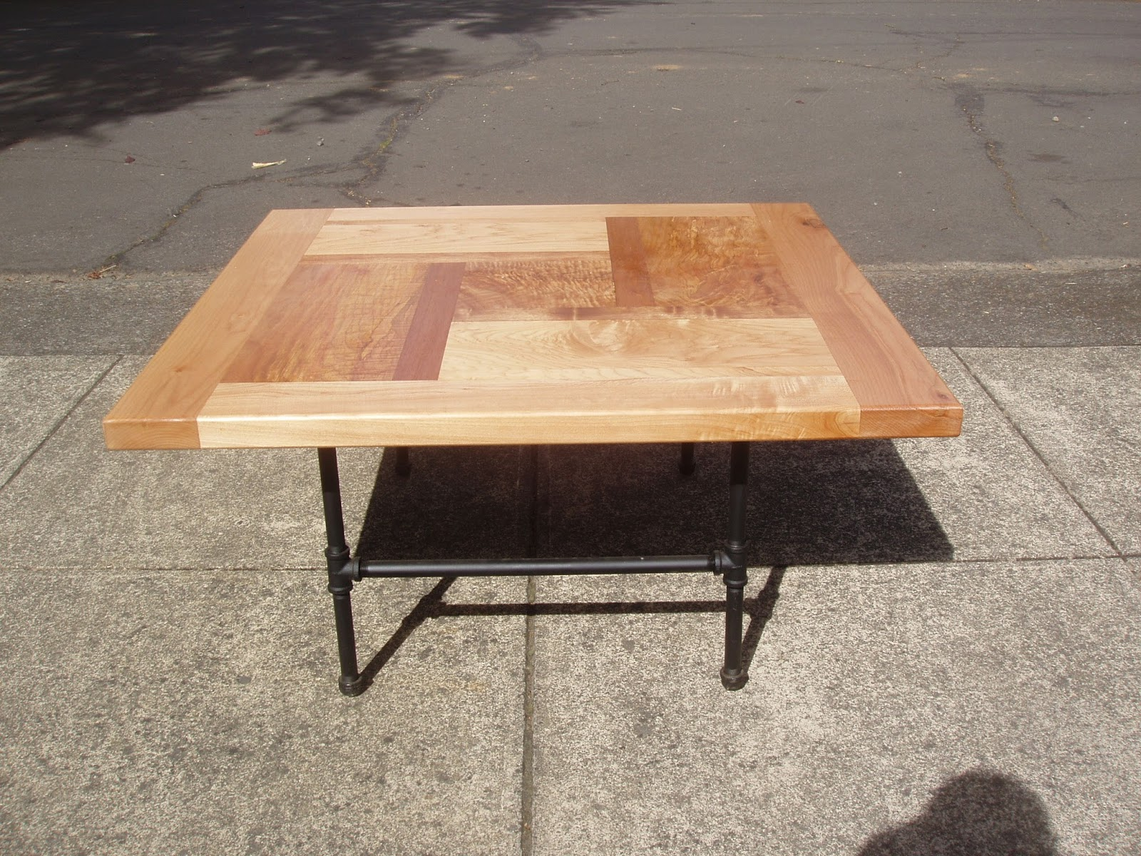 driftedge woodworking pinwheel design coffee table in maple and