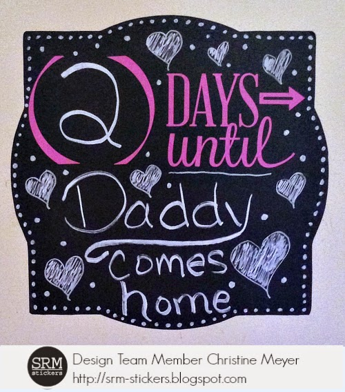 SRM Stickers Blog - Chalkboard Vinyl Countdown Board by Christine - #vinyl #chalkboard, #transfer tape #home decor #countdown