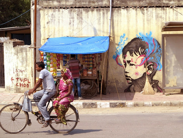 Colombian Street Artist Stinkfish Visits India Where He Dropped Several new Pieces. 6
